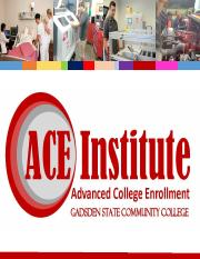 ACE Institute presentation for Cleburne County