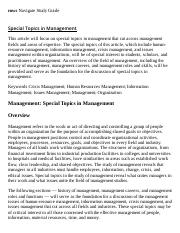 Special Topics in Management Research Paper Starter - eNotes.pdf