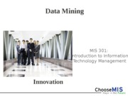 Classes 21 and 22 - Data Mining