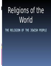 The Religion of the Jewish People