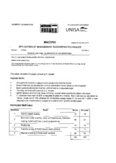 Unisa assignment answers