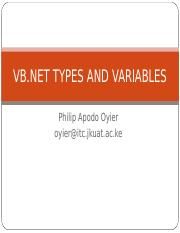 VB.Net Variables and Types_Oct 2016
