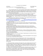 AAS33A Spring 2010 Sect3 Second Essay