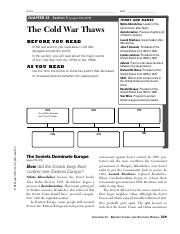the cold war thaws name chapter 33 section 5 pages 876879 the cold rh coursehero com 17.5 guided reading the cold war thaws