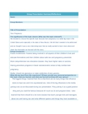 Teen Pregnancy Worksheet and Answers