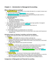 ACC406 - Chapter 1 Notes