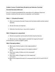 Honors Chemistry Module 5 Lesson 3 Guided Notes.doc