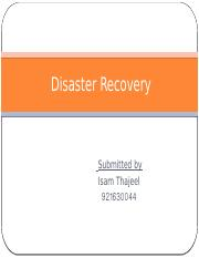 Disaster Rcovery isam
