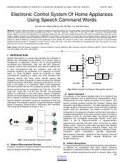 Electronic-Control-System-Of-Home-Appliances-Using-Speech-Command-Words