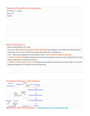 04.03 - Cooper - Cholesterol Biosynthesis and Regulation