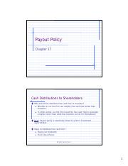 Slides 11 Payout policy student