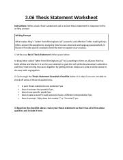 3.06ThesisStatementWorksheet.rtf - 3.06 Thesis Statement Worksheet ...