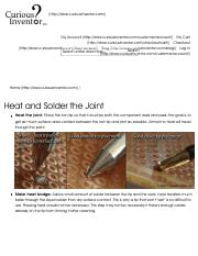 Heat and Solder the Joints