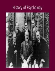 History of Psychology (revised May 15 2016)