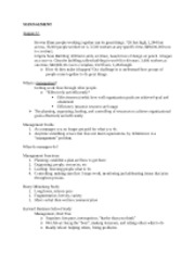 MGT 3304 Test One Notes