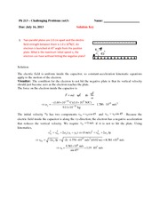 Challenge Problem Session 3 Solution on General Physics