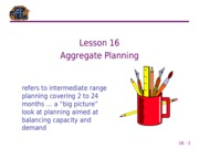 16 Aggregate Planning