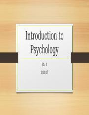 Introduction to Psychology ch.1 part one bb version spring 2017 copy