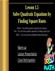 1.5_Solve_Quadratic_Equations_by_Finding_Square_Roots.pptx
