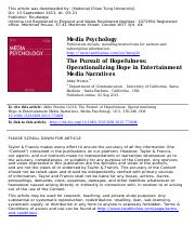 The Pursuit of Hopefulness_Operationalizing Hope in Entertainment Media Narratives (2013)