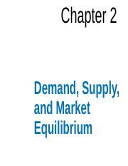 Ch 2- Demand Supply and Market Equilibrium 1
