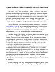 comparing julius caesar to abraham lincoln