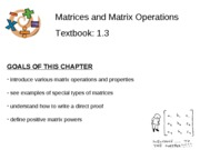 Section 1.3 - Matrices and Matrix Operations
