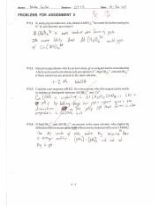 Chem-Ch. 5 Problems
