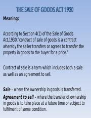 Sale of Goods Act 1930.ppt