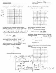 Honors Precalculus Answer Key