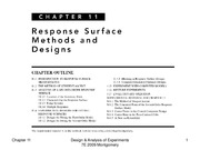 Lecture11 response surface for Design of Engineering Experiments