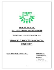SAMPAD PRADHAN PROCEDURE OF IMPORT AND EXPORT.docx