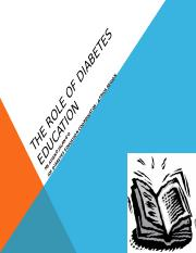 The Role of Diabetes Education.pps