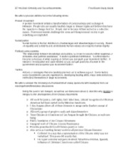 Social Mvmts Final Exam Study guide