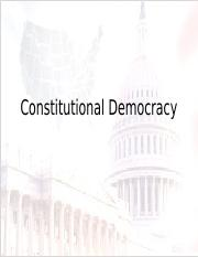 Constitutional Democracy--power point