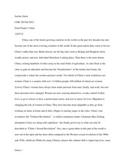 Human Rights and Responsibilities China Final Essay