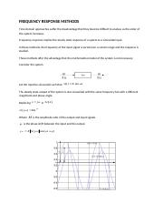 FREQUENCY RESPONSE METHOD.S