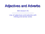 Adjectives and Adverbs Powerpoint Linking