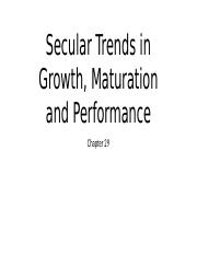 HGMD class lecture - Secular Trends in Growth, Maturation and Performance
