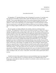 Convocation write up