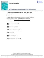 Trevelyan, J. (2010) - Reconstructing engineering from practice.pdf