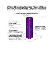 STRESS CONCENTRATIONS DUE TO APPLICATION OF LOCAL CONCENTRATED LOADING CONDITIONS