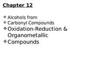 ch12.Carbony compounds, oxidation-reduction & organometallic compounds.pptx