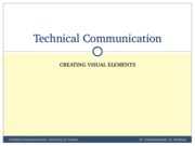 TechComm, Lecture 9 - Creating Visual Elements