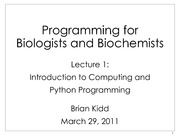 Lecture 1 - Introduction to Computing and Python Programming