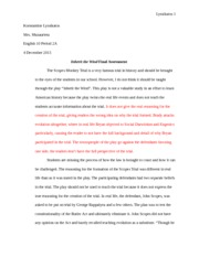 ITW Essay