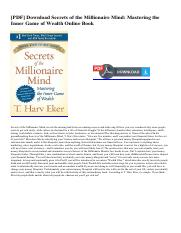 Secrets Of The Millionaire Pdf Download Secrets Of The