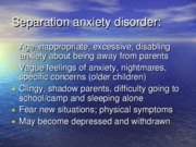Other anxiety disorders slides
