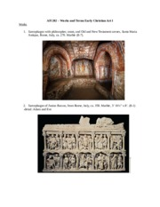 AH 202 2016 – Works and Terms Early Christian Art I and II
