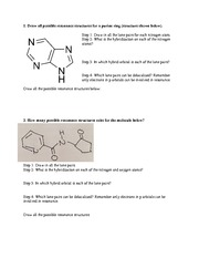 resonance hybridization tutorial worksheet week 2 1 draw all possible resonance structures for. Black Bedroom Furniture Sets. Home Design Ideas